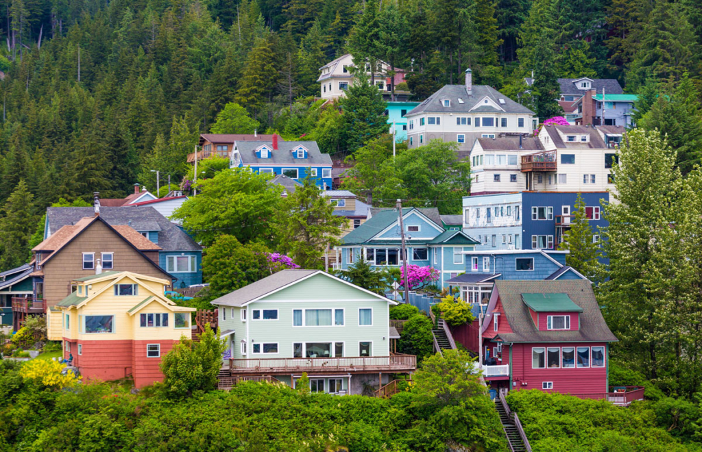 cabins on the harbor in alaska