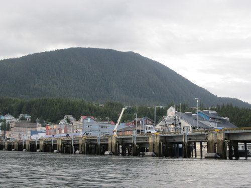 ketchikan channel docks with houses on them