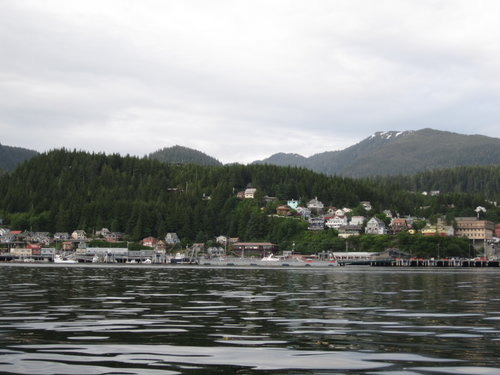 ketchikan fishing village homes on the bay