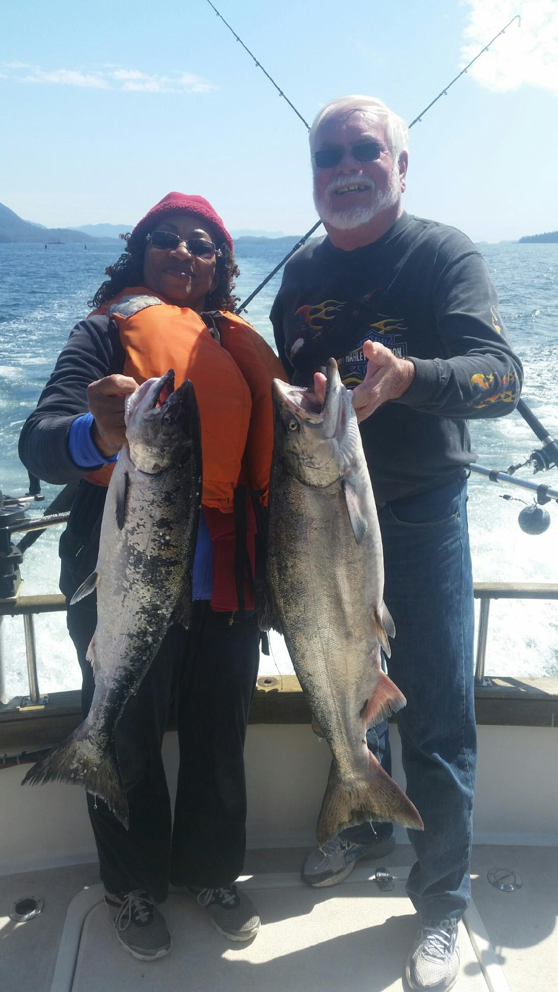 Couple catches a pair of king salmon